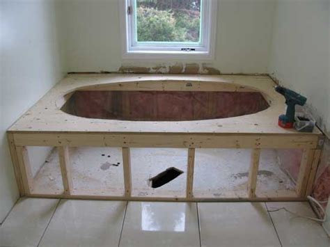 how to build in a bathtub ceramic tile jacuzzi tub and deck how to build home decor pinterest decks