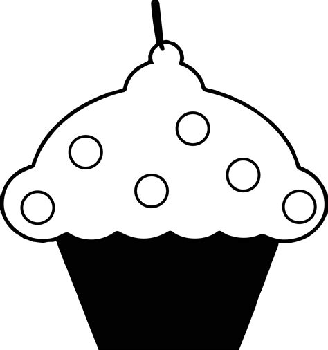 big cupcake coloring page black and pink cupcake coloring page wecoloringpage