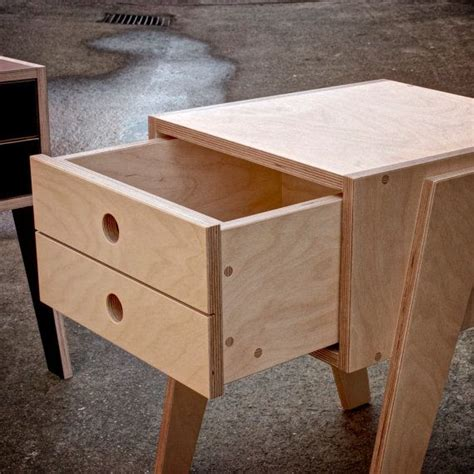 plywood bedside table bedside table with soft closing drawer made by eightysevendesign bijzet kruk pinterest