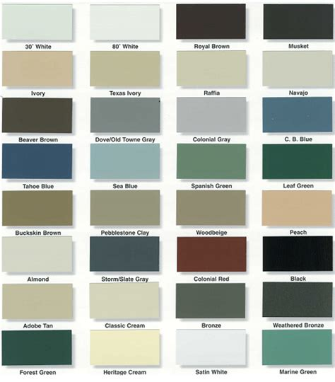 vinyl siding color chart alcoa mastic vinyl siding colors