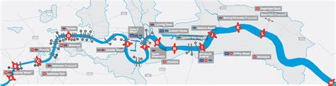 thames river bus map plan for 13 extra london river crossings construction