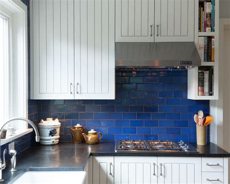 Blue Tile Backsplash Kitchen Blue Tile Backsplash Houzz
