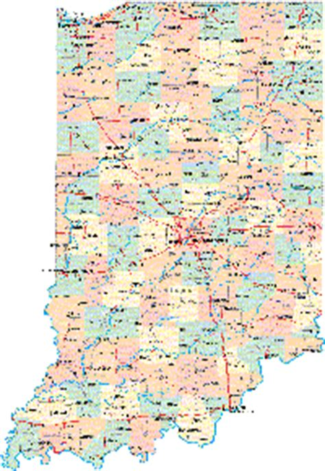 printable indiana road map indiana maps and state information