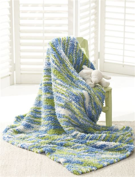 bernat afghan knitting patterns the land and the sea baby blanket allfreeknitting