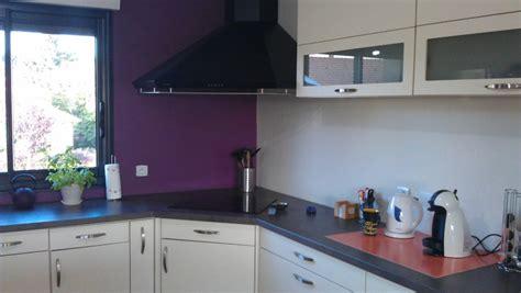 peinture aubergine cuisine cuisine mur aubergine obasinc com