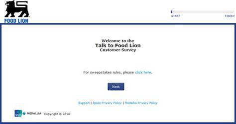 Www Talktofoodlion Com Sweepstakes - www talktofoodlion com food lion customer satisfaction survey