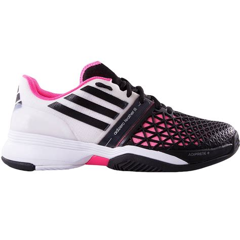 adidas tennis shoes adidas adizero feather iii s tennis shoe white black pink