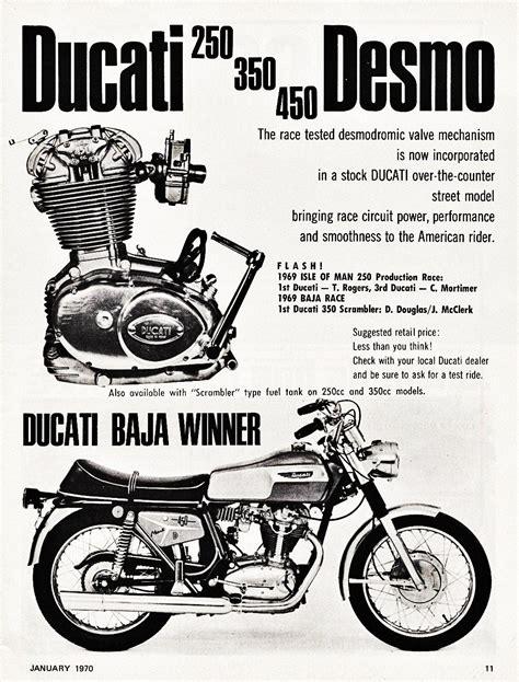 Ducati Motorrad Vintage by Ducati 250 350 450 Desmo 1970 Motorr 228 Der Pinterest
