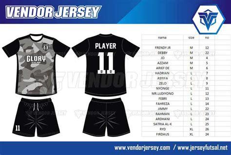 desain kostum futsal online pembuatan kostum tim futsal glory dengan motif loreng