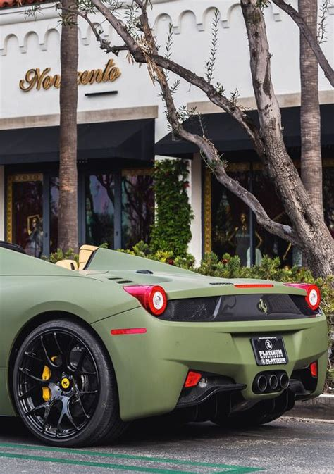 matte green ferrari ferrari 458 matte military green cars and anything fast