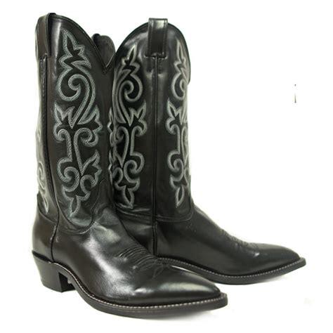 rubber boot polish justin alcalas western wear men s black leather cowboy