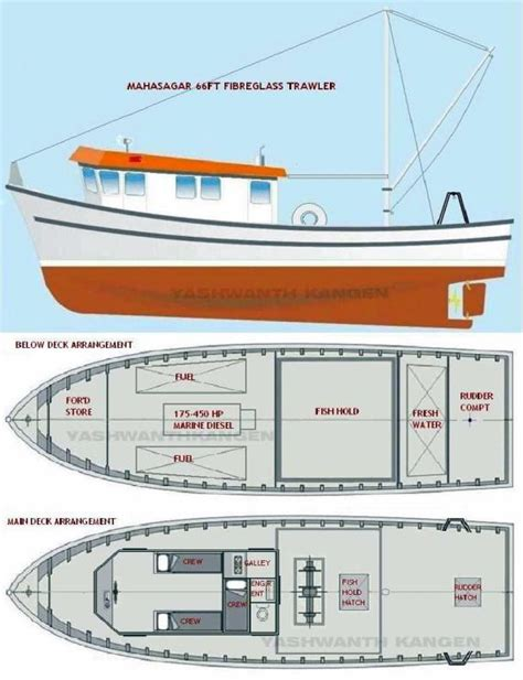 fishing boat layout mahasagar 66 fibreglass trawlers solidly built heavy