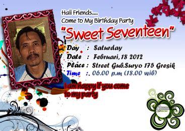 Kartu Undangan Ben 17 mewarnai gambar anak anak contoh kartu undangan ulang tahun sweet seventeen