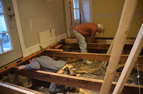 leveling the floor and adding new joists waypoint house