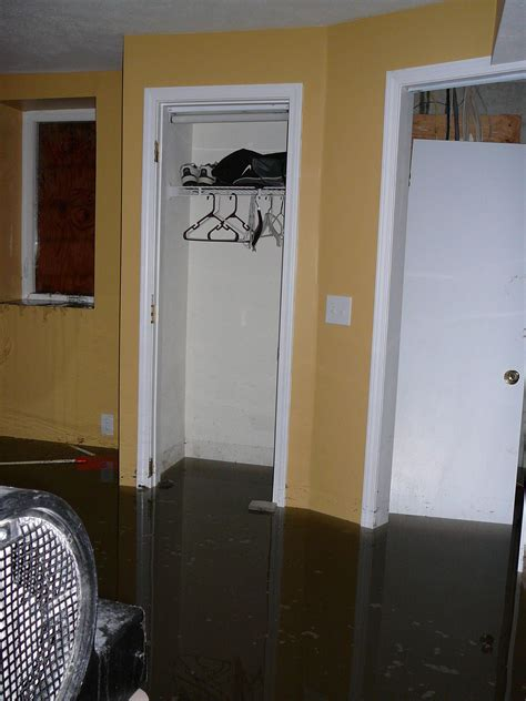 flooded basement flood flood water clean up in