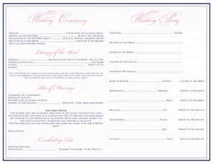 wedding bulletin templates posh an autumn outdoor wedding template for a