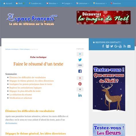 Resume D Un Texte by Faire Le R 233 Sum 233 D Un Texte Pearltrees