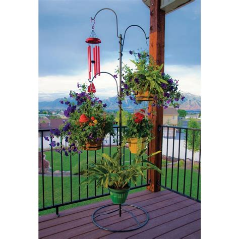 Outdoor Plant Stand Hanging Basket Holder Tree Flower Pot