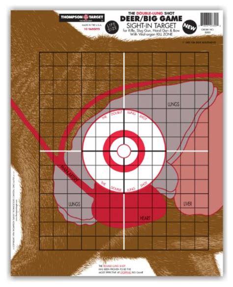 printable deer vital targets deadbullseye