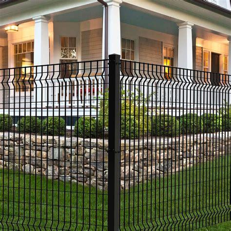 deco grid black steel fence panel   steel fence