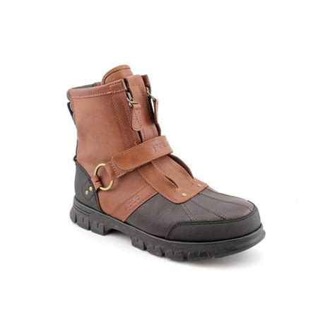 overstock boots polo ralph s conquest hi 2 leather boots