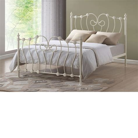 Ivory Metal Bed Frame Inova Ivory Metal Bed Frame 5ft Kingsize