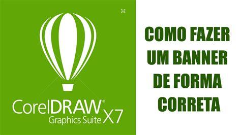 tutorial logo windows corel draw tutorial de corel draw x7 banner de forma correta para a