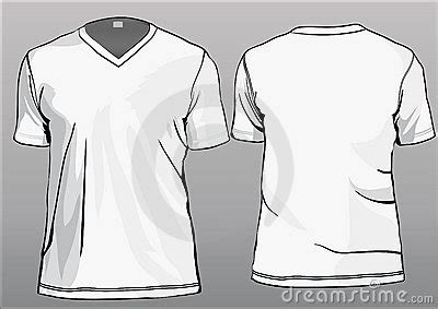 Tshirt Template With V Neck Stock Photo Image 13869340 V Neck T Shirt Design Template