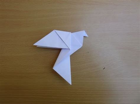 How To Make A Dove Out Of Paper - how to make a paper dove symbol of peace easy