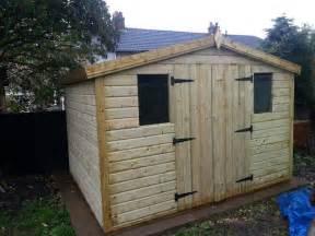 garden shed tanalised heavy duty 10x8 apex 13mm t