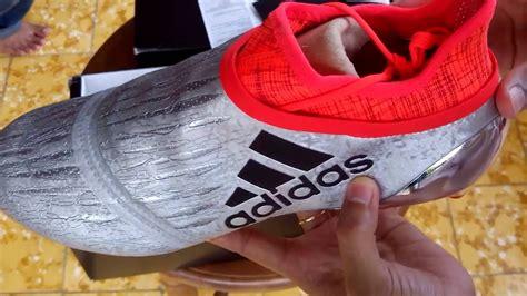 Cek Sepatu Bola Adidas sepatu bola adidas x 16 purchaos fg silver s79511 unboxing