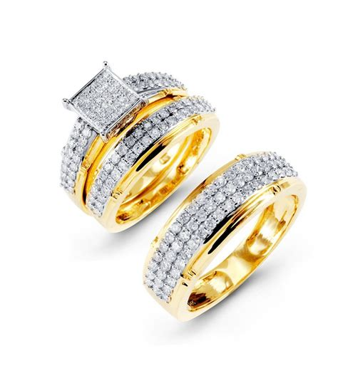 his and wedding band sets gold wedding ring sets his and hers sweet his and hers