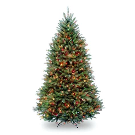 sure lit christmas tree lights national tree company 7 5 ft pre lit dunhill fir hinged artificial tree with multi