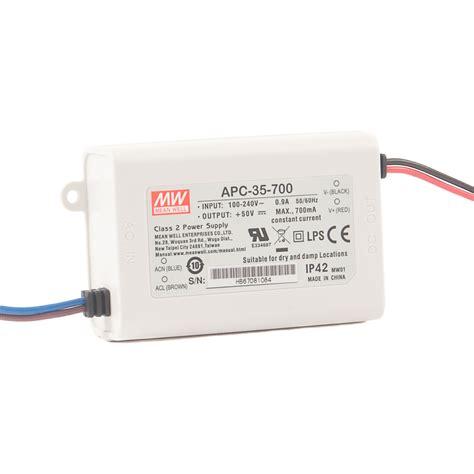 Power Supply Well Led Driver Apc 8 apc 35 watt led power supply to ip42 350ma