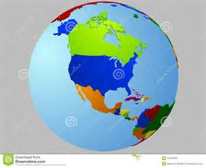america globe map stock images image 12433304