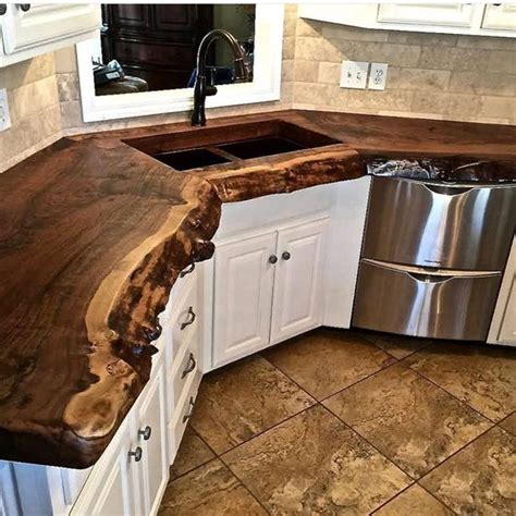 tree trunk bar top 24 chic live edge wood furniture objects to try shelterness