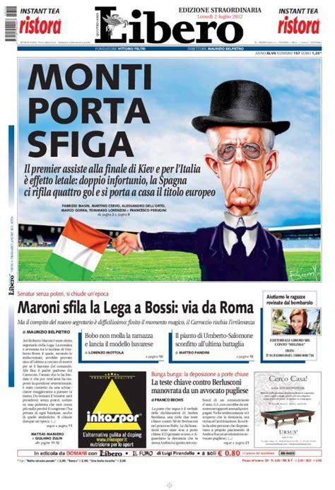 libero quotidiano italia l italia perde l europeo monti porta sfiga parola di