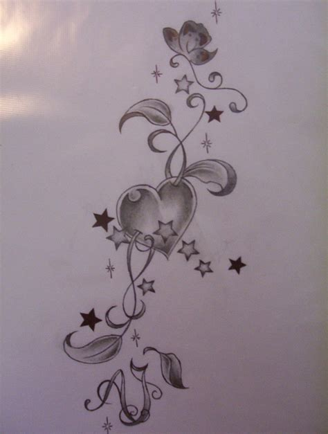 heart with vines tattoo design design by tattoosuzette on deviantart