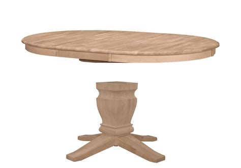 unfinished butterfly leaf pedestal table 48x48x66