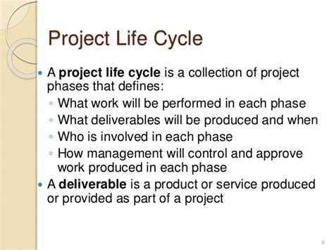 biography project definition project development cycle