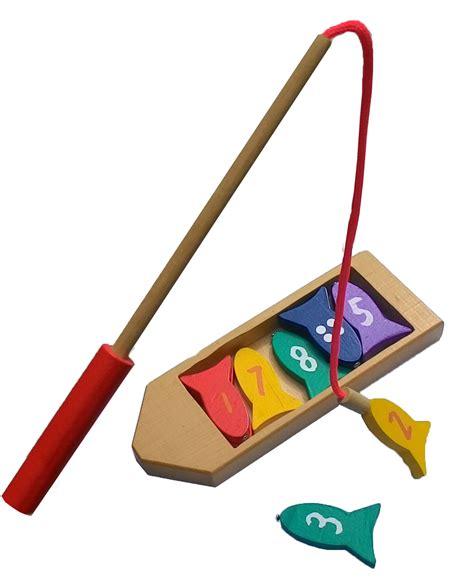 Puzzle Mancing perahu mancing mainan kayu