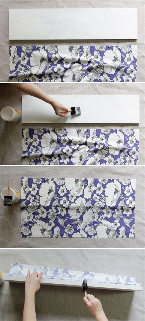 how to decoupage with fabric how to decoupage fabric onto shelves shelves decoupage