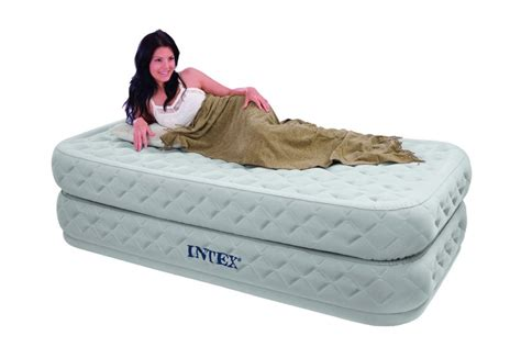 intex single size fiber tech supreme air flow airbed