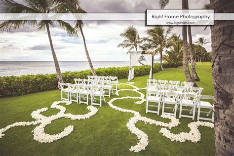 Destination Wedding in Hawaii   Paradise Cove by RIGHT