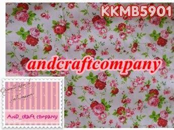 Kkb62 Katun Jepang Motif Rumpun Mawar Pink Uk 15mx Lebar Kain and s crafts jual kain katun