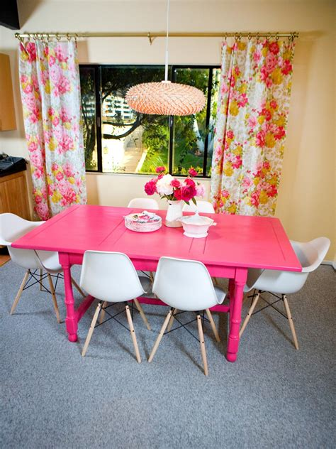 pink dining table pink dining table photos hgtv pink and black mid