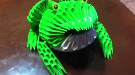 3d Origami Frog - sapo origami 3d