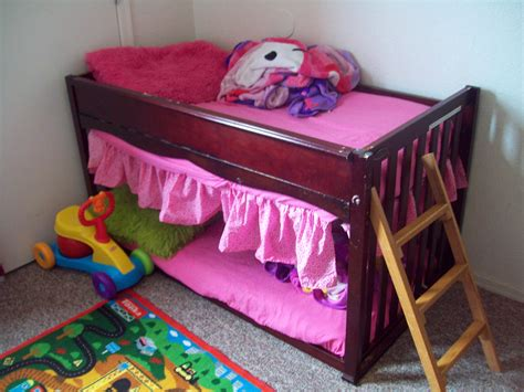 crib turned into toddler bed this is a upside down crib turned into a toddler bunk bed