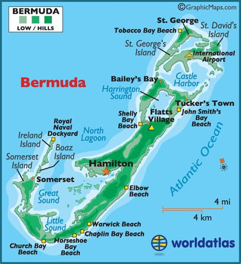 bermuda on world map map of bermuda bermuda map map bermuda worldatlas
