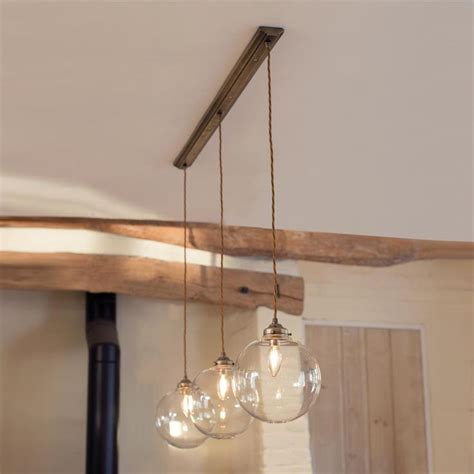 pendant track lighting for kitchen holborn triple pendant track in antiqued brass lighting